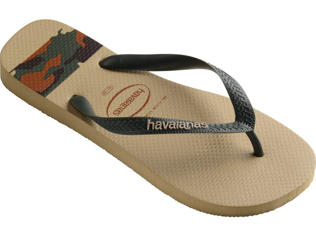 havaianas Top Stripes Logo Flips Men Sand Grey